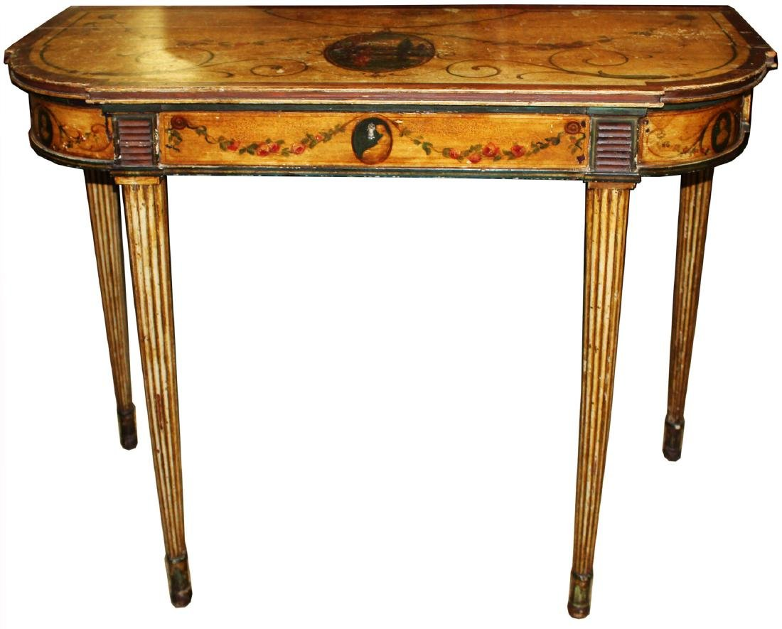 Ca. 1800 polychrome console table