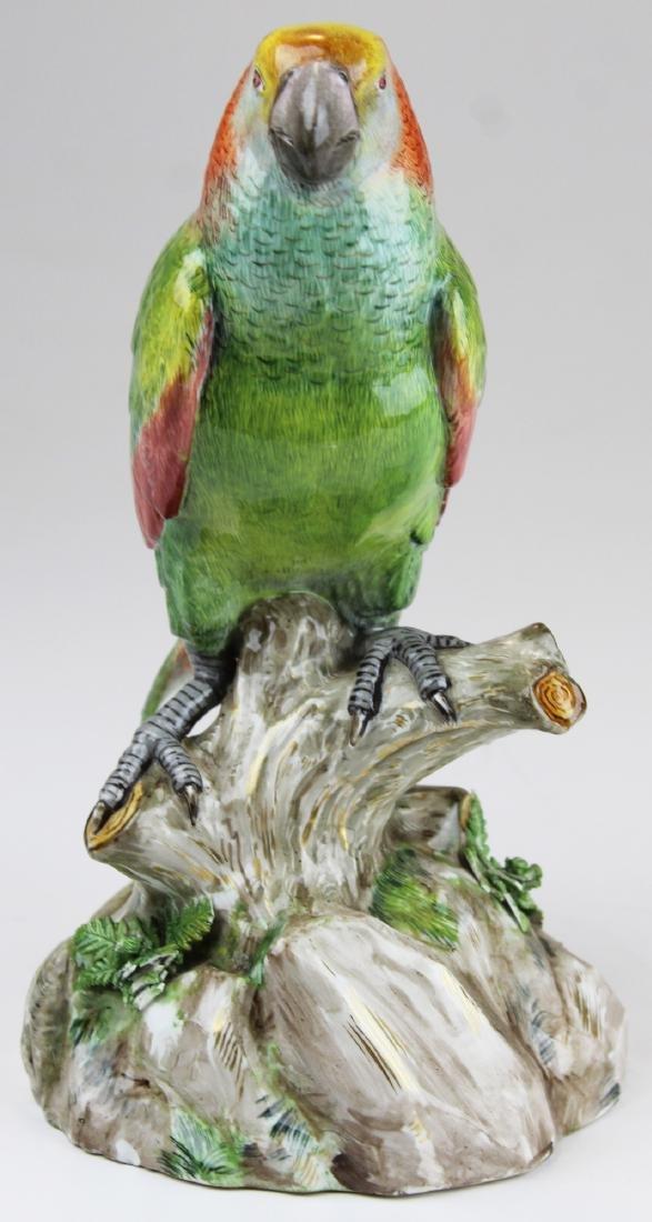 fine 19th c. Meissen porcelain parrot figure
