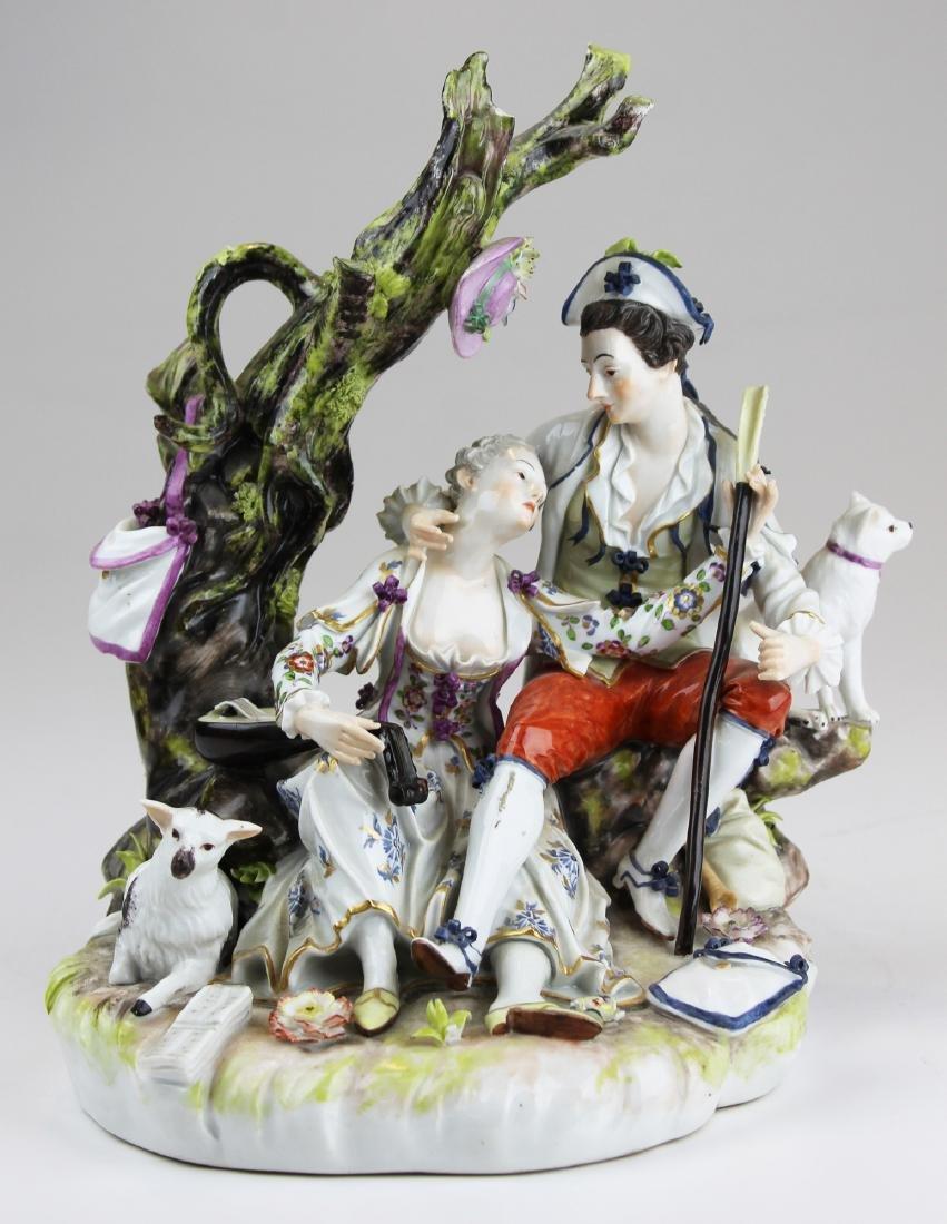 excellent 19th c. Meissen porcelain figural group