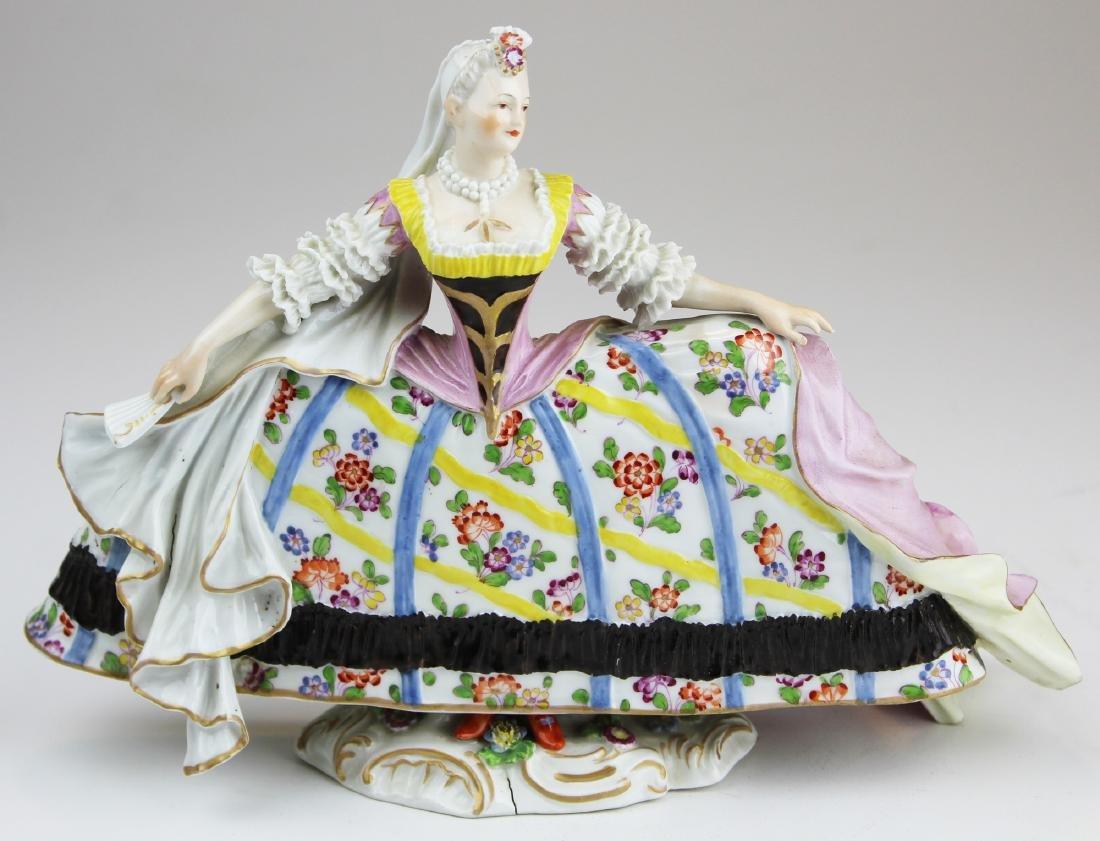 fine 19th c. Meissen porcelain figurine of lady