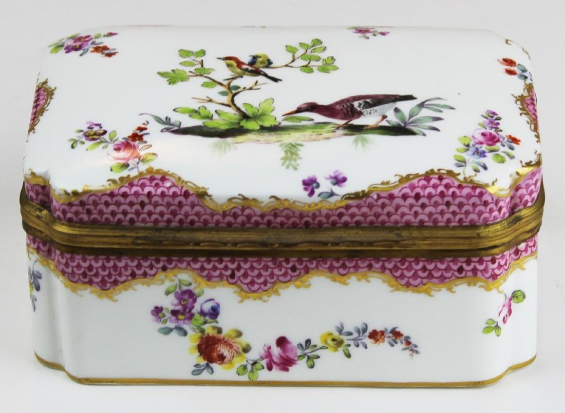 19th c. Höchst porcelain dresser box