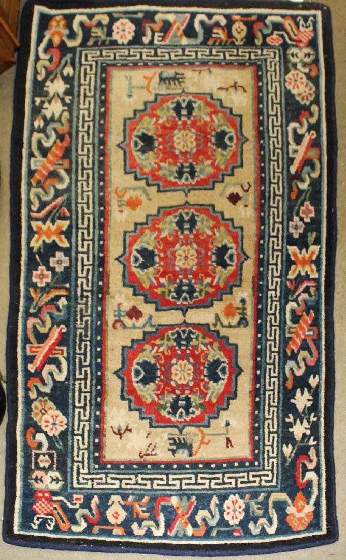 1930's Tibetan Khaden sleeping & sitting rug