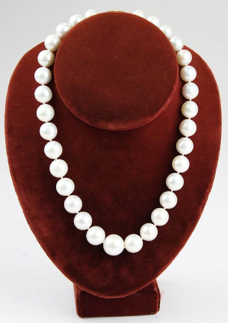 South sea white pearl necklace.