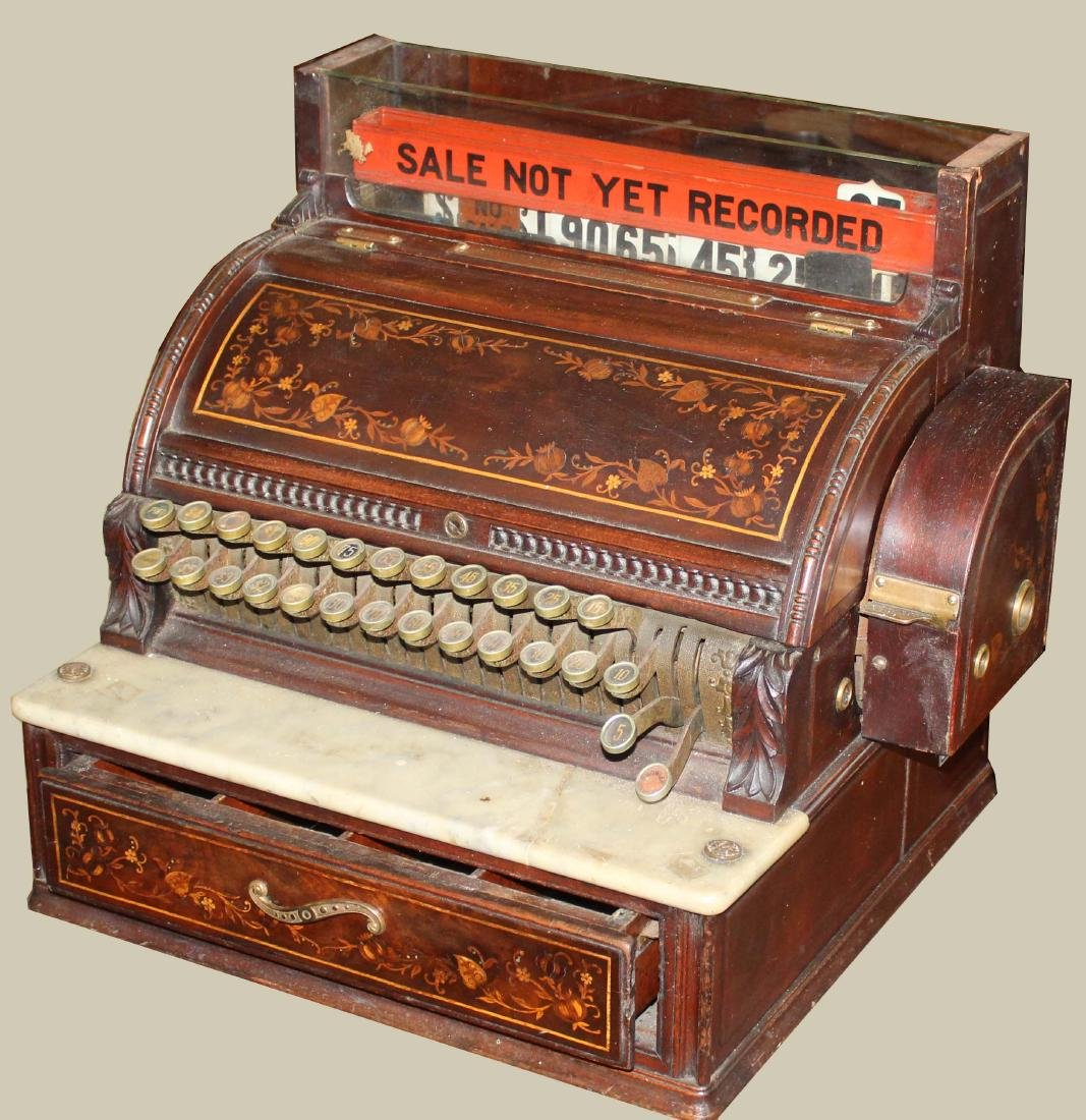 early 20th c National inlaid cash register