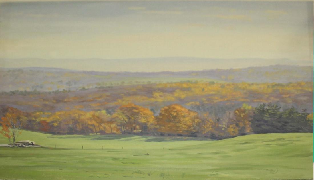 Rhett Sturman (VT 20th C) Spring landscape
