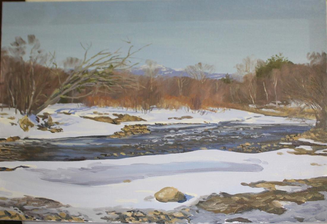 Rhett Sturman (VT 20th C) Winter landscape