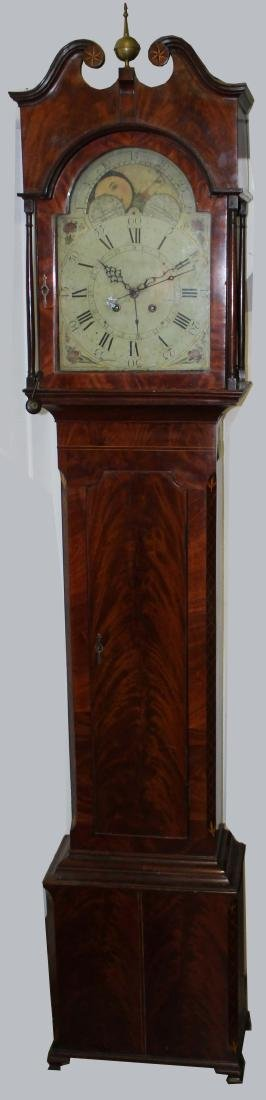 Chippendale mahogany tall case clock