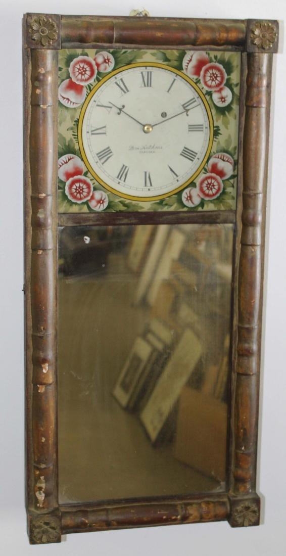 Levi Hutchins Concord, NH mirror door clock