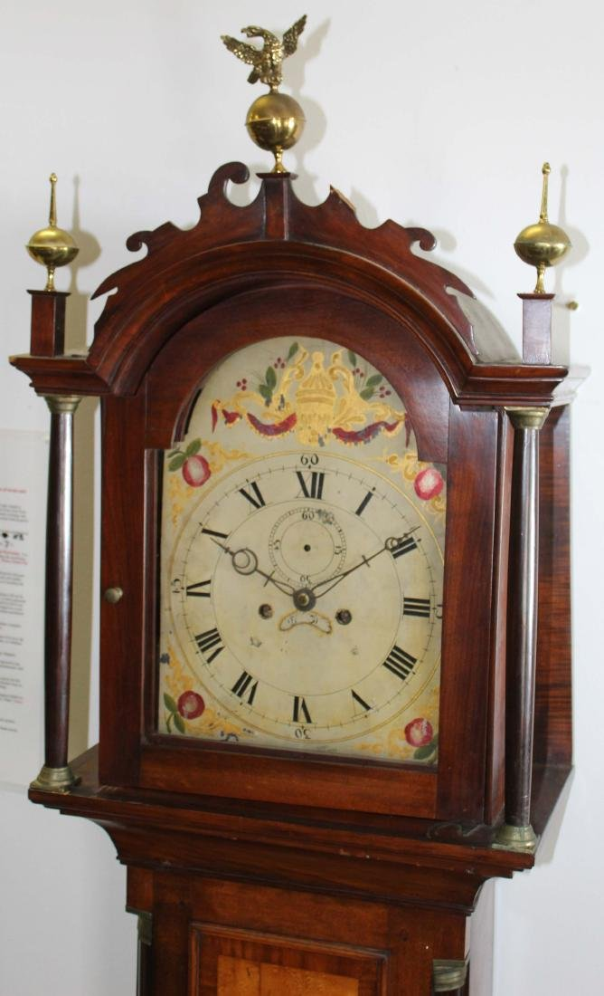 NH Chippendale tall case clock