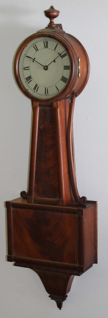 20th c mahogany banjo clock