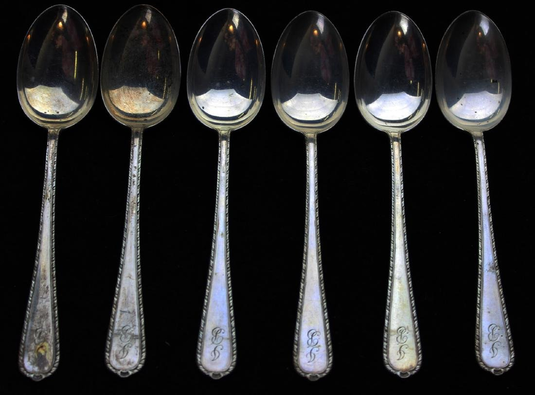 set of 6 International sterling teaspoons