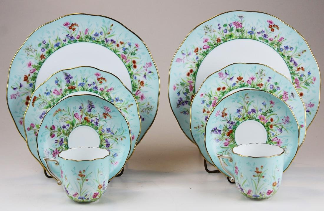 Two Herend Four Seasons porcelain place settings