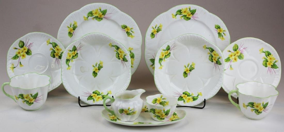 Shelley Primrose bone china breakfast set for 2