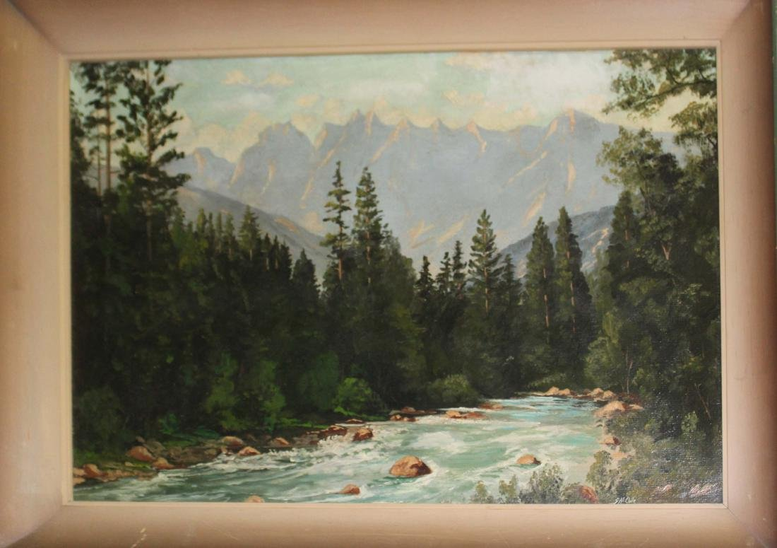 SH Cole (20th c) Rocky Mountains