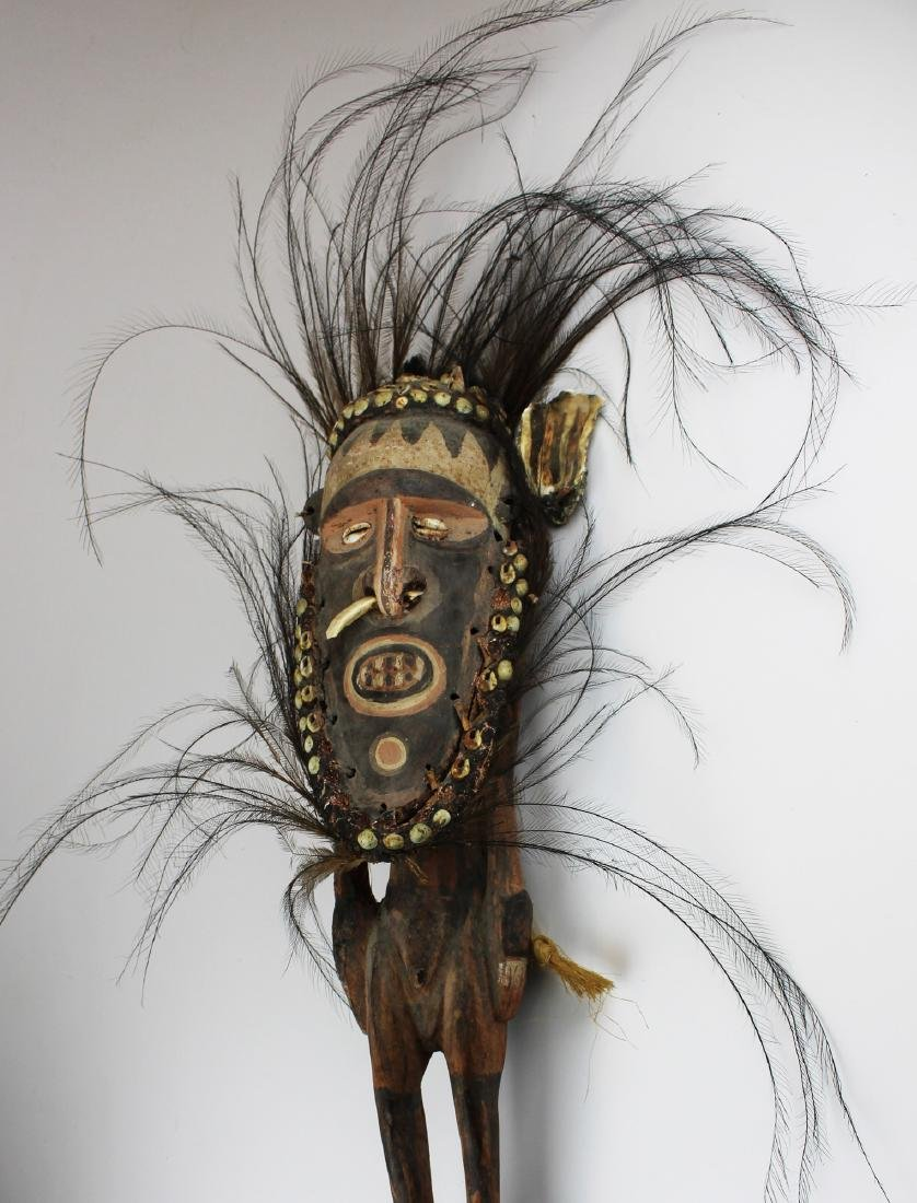 mid 20th c Papua New Guinea ceremonial stick