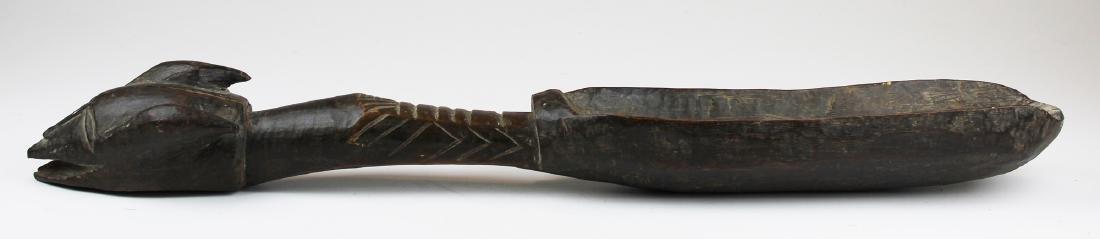 mid 20th c African carved wooden grain shovel