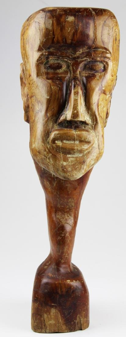 mid 20th c African hardwood bust