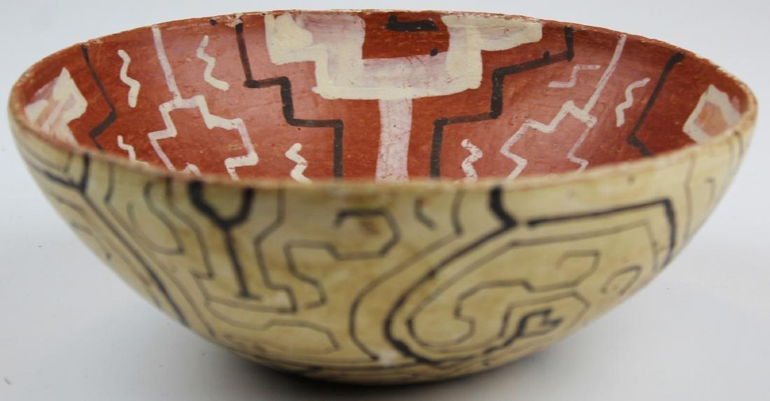 mid 20th c Peruvian Indian Shipibo bowl