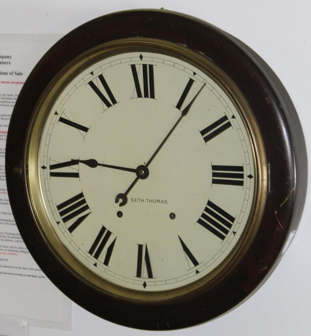 Seth Thomas mahogany cased gallery clock