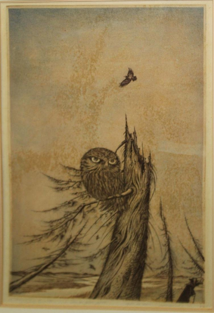 Demian Utenkov (RU) Owl on a dead tree