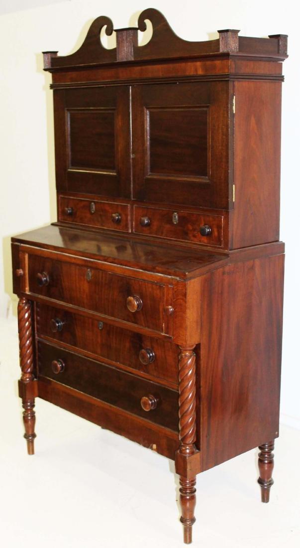 Sheraton mahogany secretary