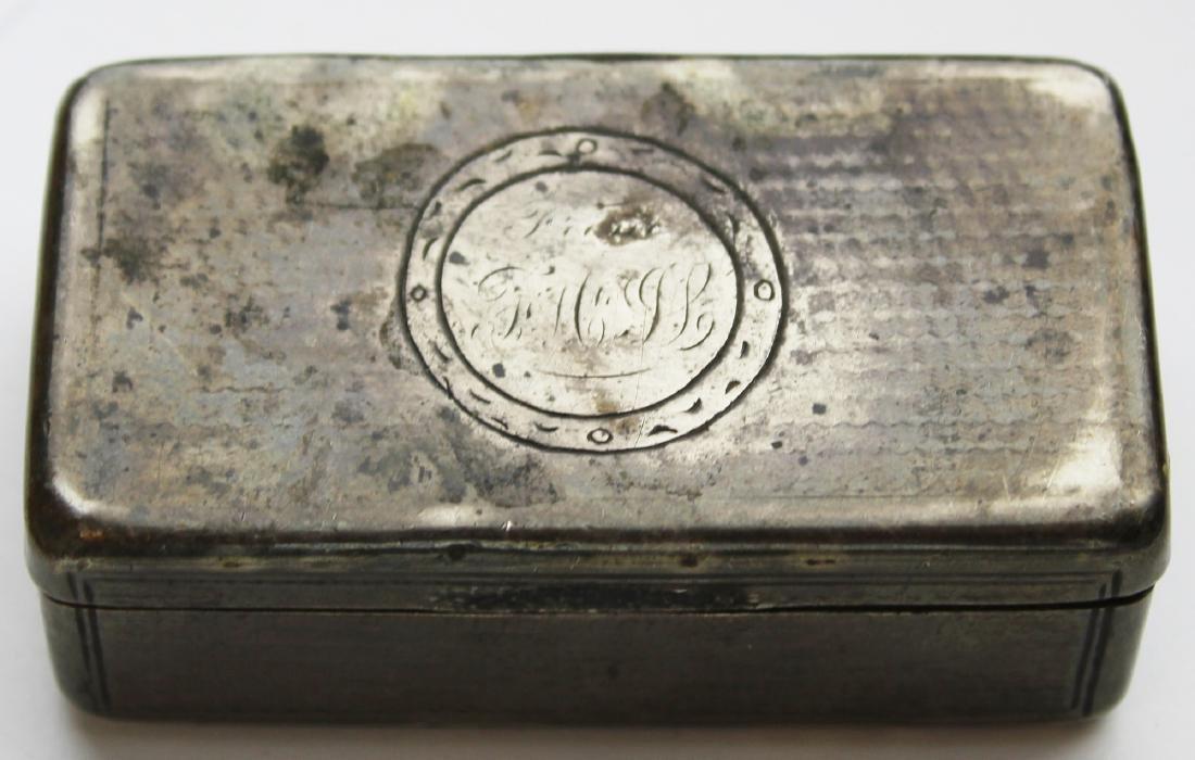 Russian 84 silver 1867 guilloche snuff box
