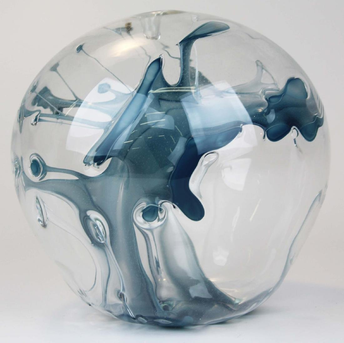 Peter Bramhall Bridgewater, VT art glass orb