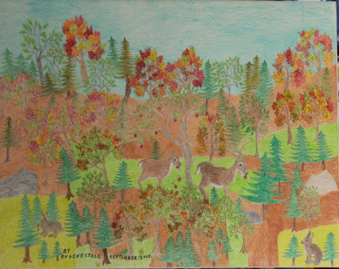 Eugene Chase (VT) Forest scene