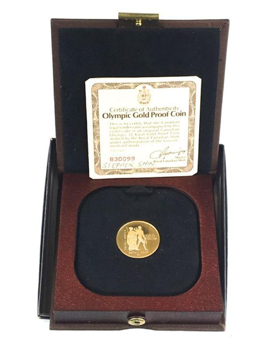 1976 Canadian $100 Olympic gold proof coin