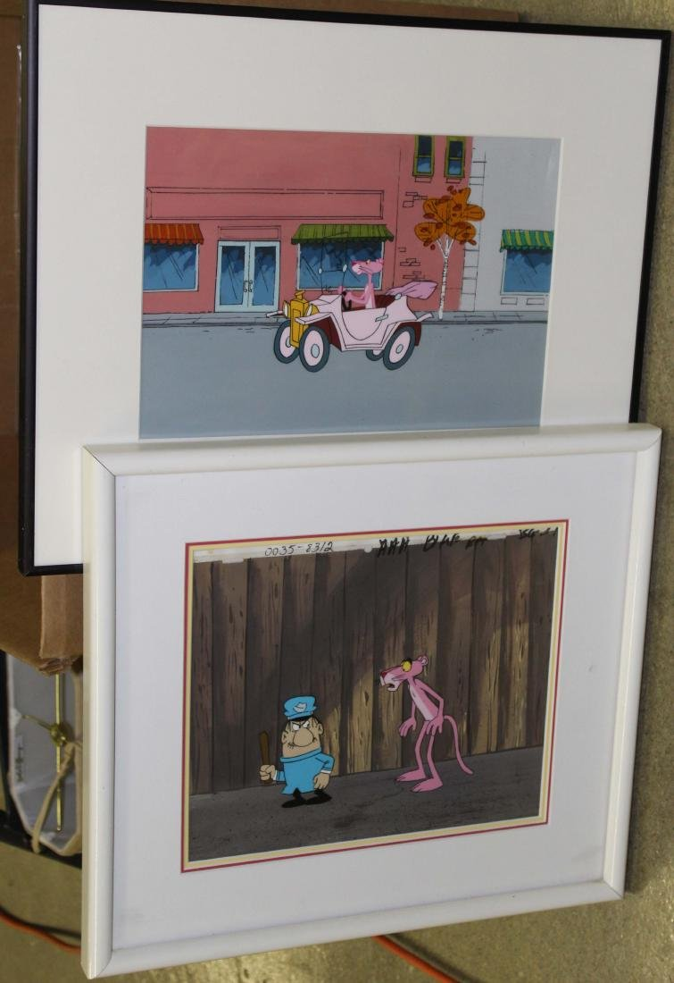Two Pink Panther Production cels