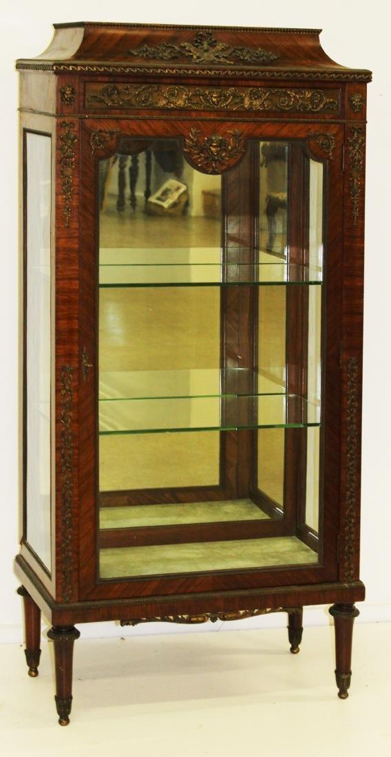 Louis XVI ormolu mounted vitrine