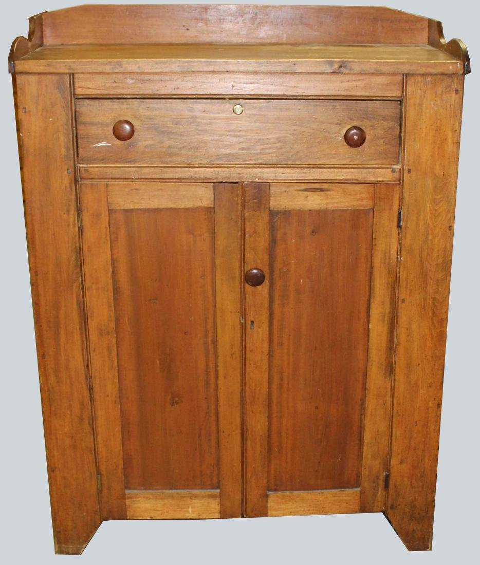 19th c PA or NY pine cupboard