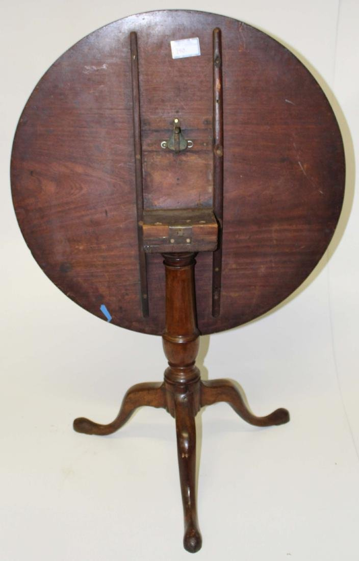 QA walnut tilt-top tea table