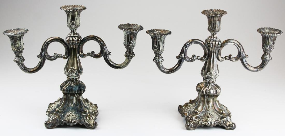 pair of Continental Rococo style candelabra