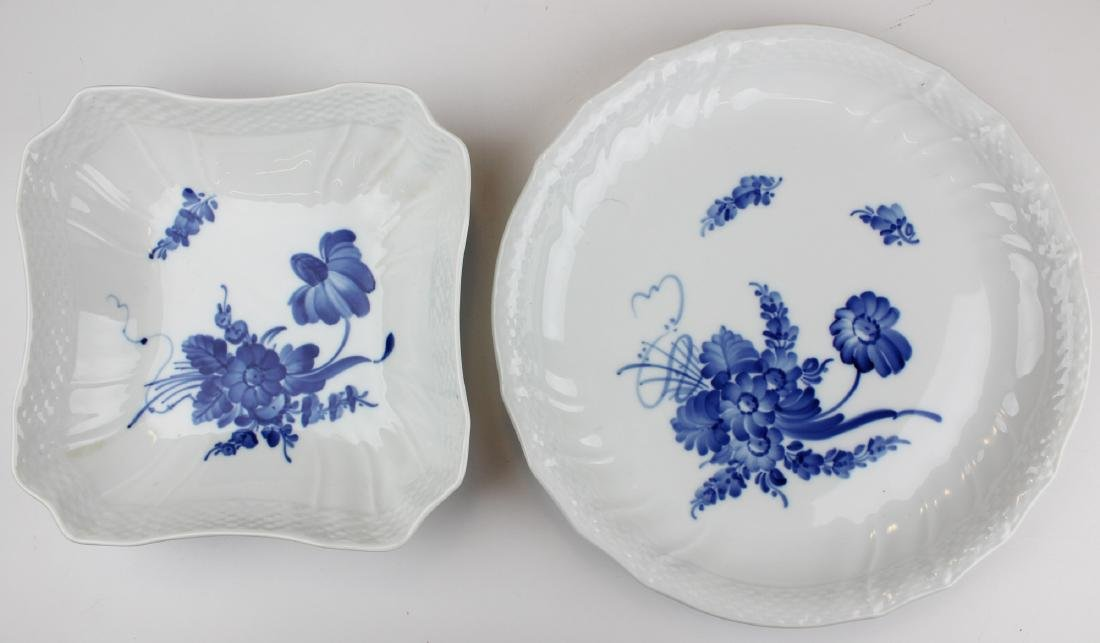 Two Royal Copenhagen serving dishes