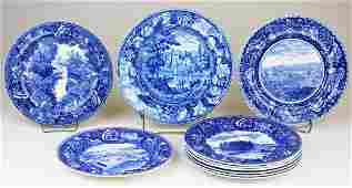 10 pcs Blue  transferware incl Staffordshire