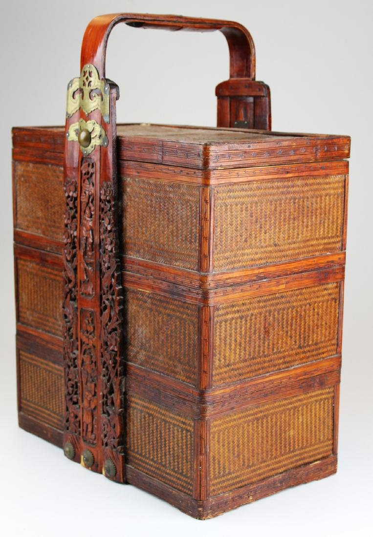 mid 20th c Chinese stacking wedding boxes