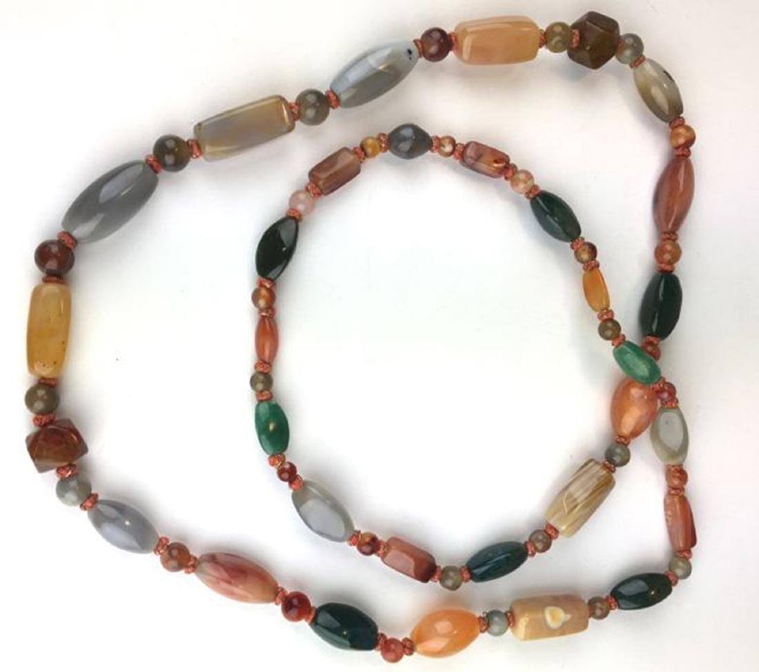 Large hard stone necklace