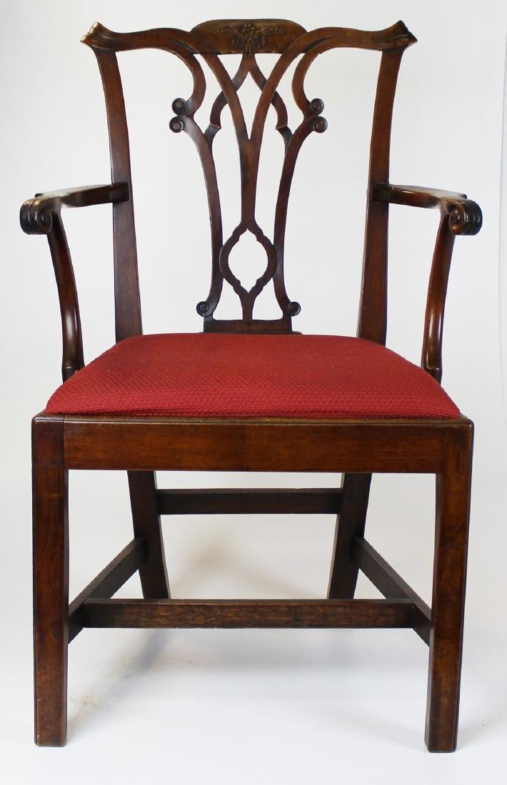 18th c George II English walnut armchair