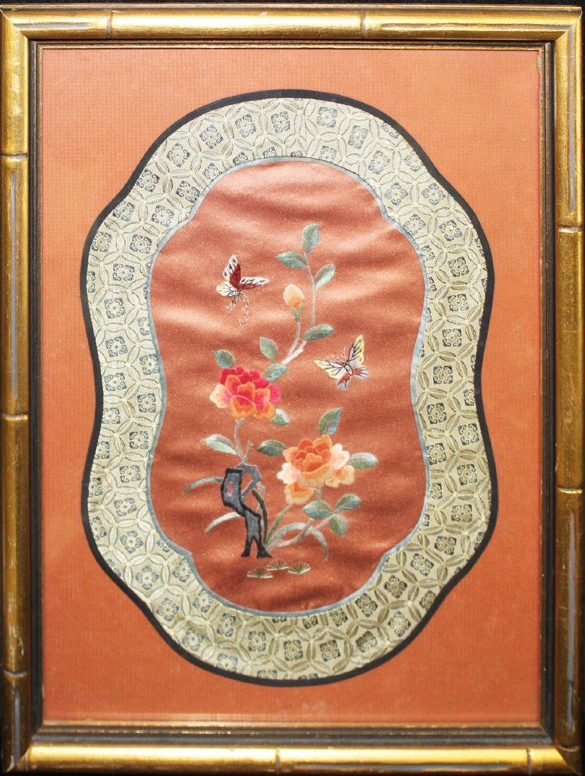 mid 20th c Chinese needlework picture
