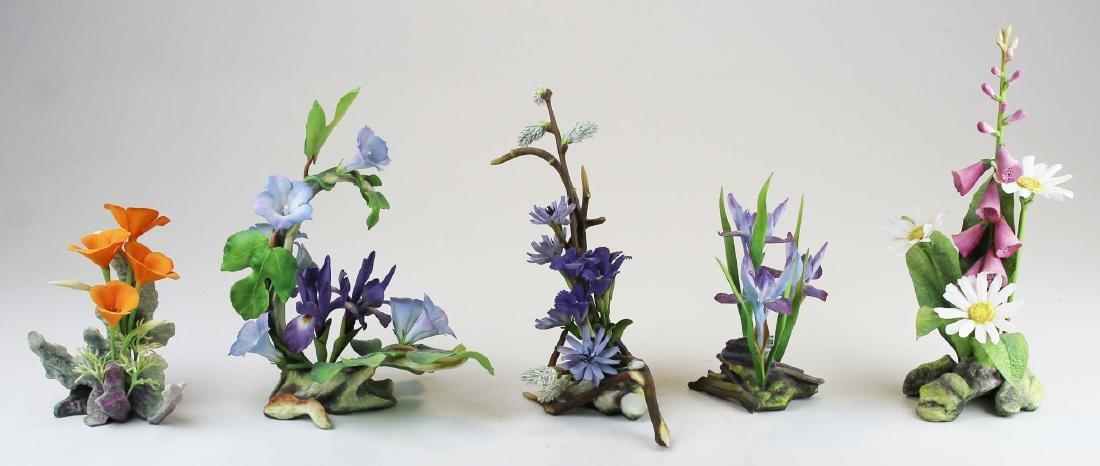 5 Connoisseur fine porcelain flower figurines