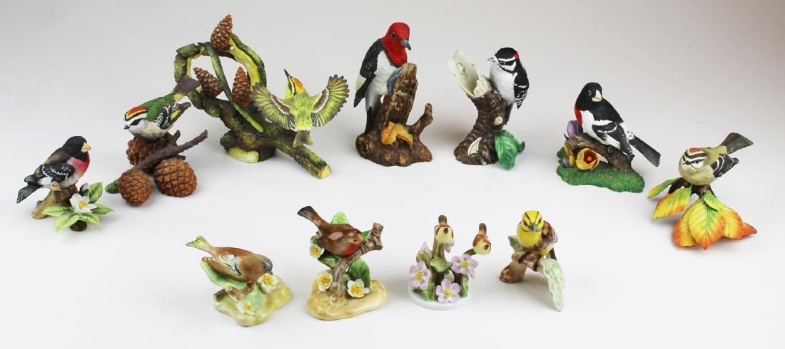 11 porcelain birds incl. Herend, Royal Doulton