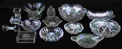 13 pcs brilliant cut and crystal art glass