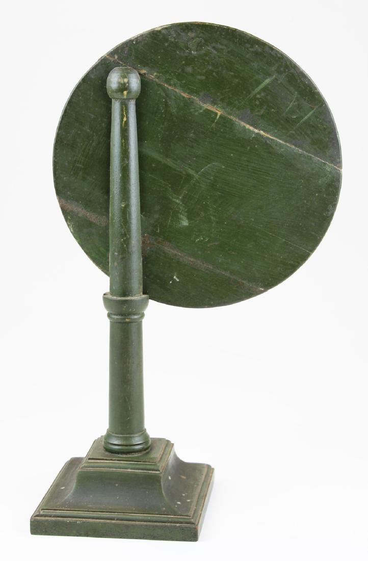 early 19th c green painted candle reflector