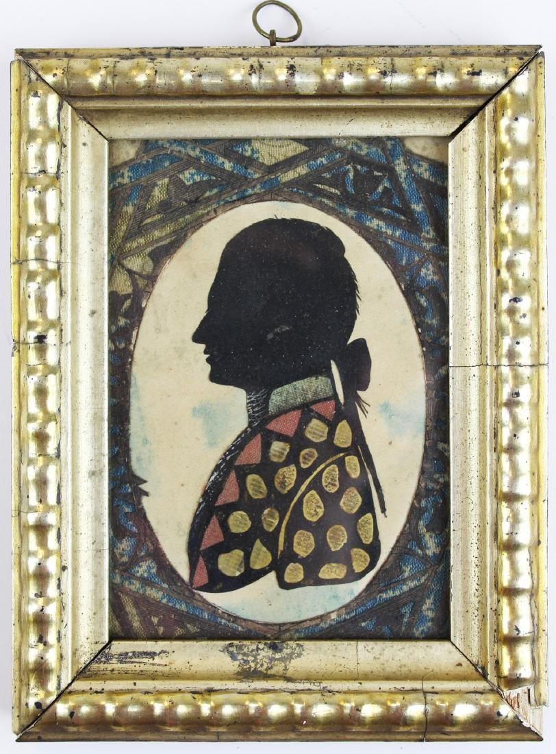 early 19th c cutwork silhouette