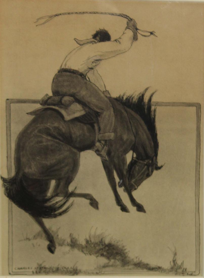 Charles Livingston Bull (Am 1874-1932) Bronco