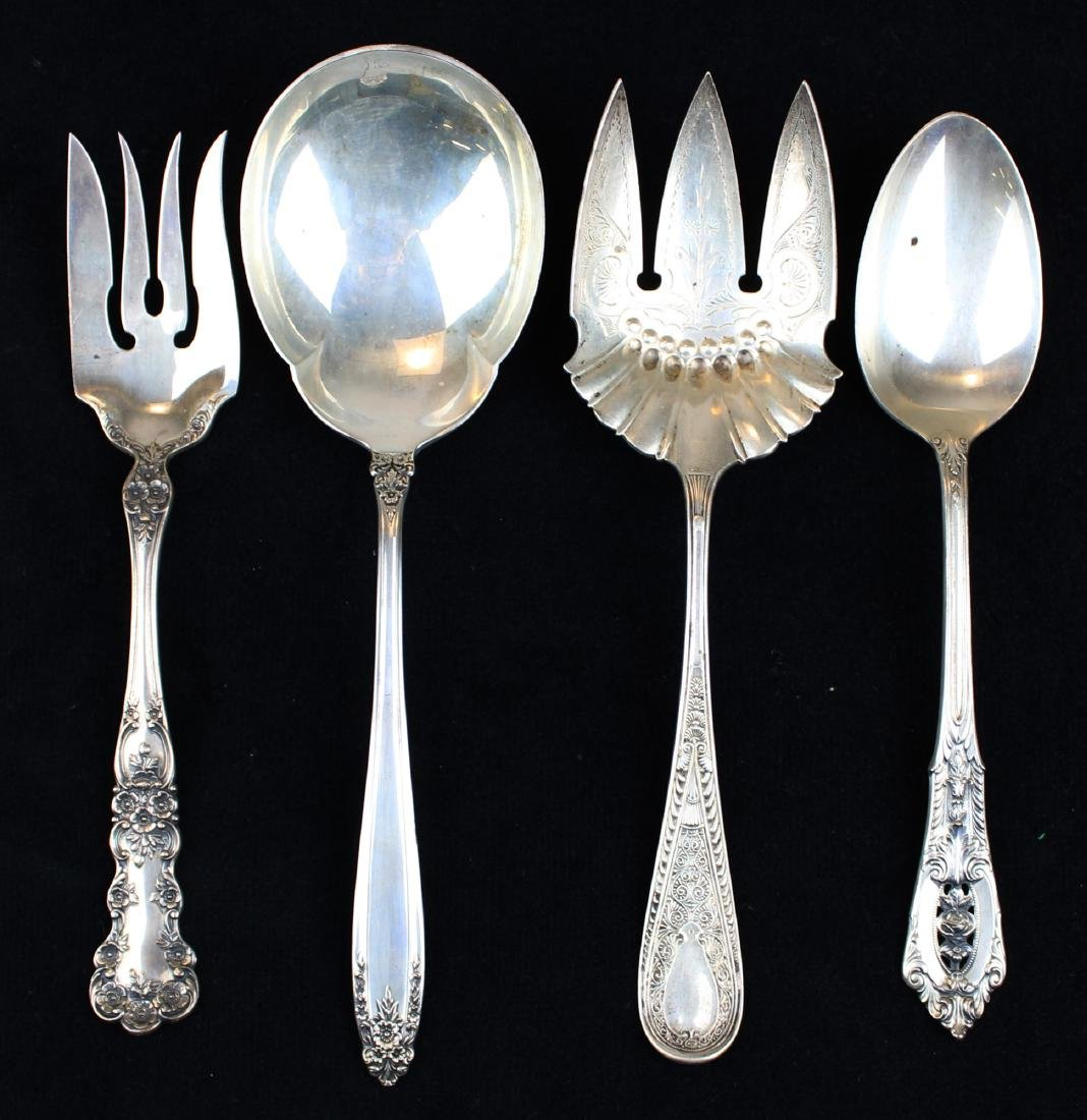 4 pcs. Sterling serving flatware incl. Gorham
