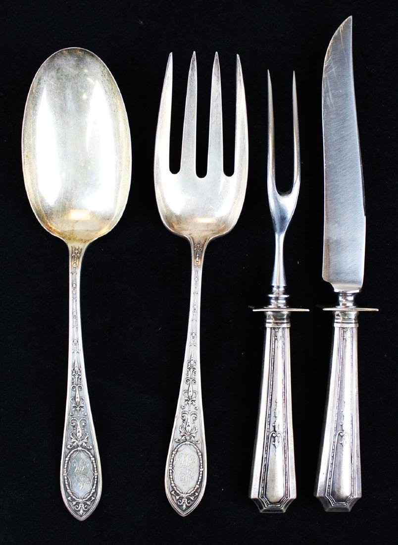 4 pcs. Sterling serving flatware incl. Whiting