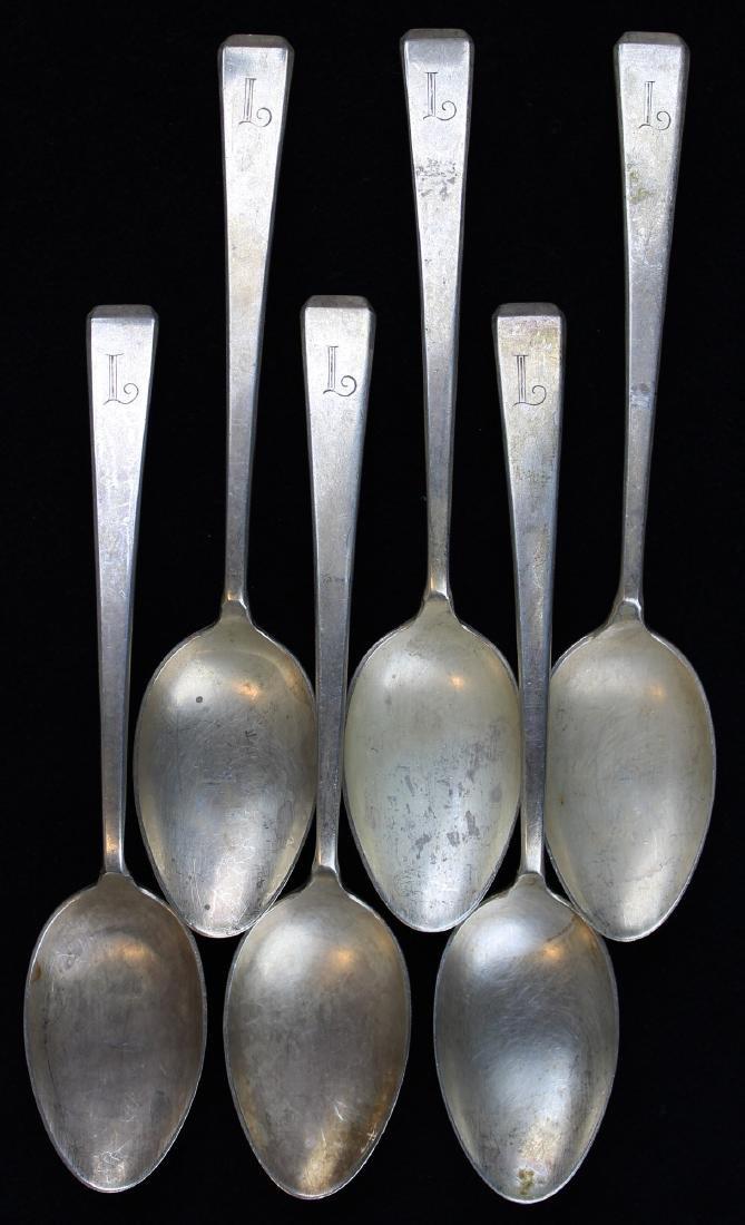 8 Towle Craftsman sterling silver teaspoons