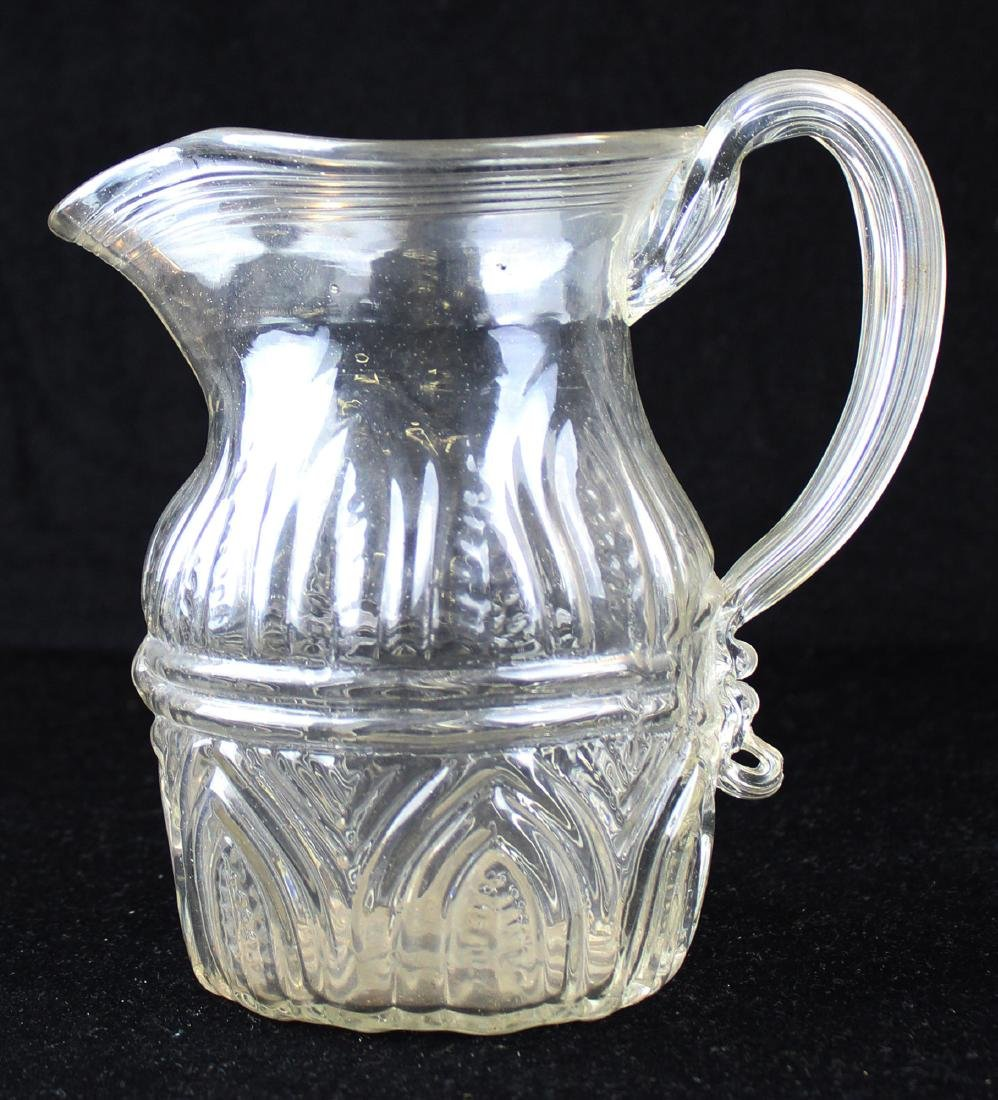 early 19th c blown three mold pitcher